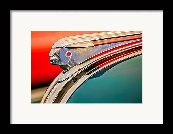 1948 Pontiac Streamliner Framed Print featuring the photograph 1948 Pontiac Chief Hood Ornament by Jill Reger