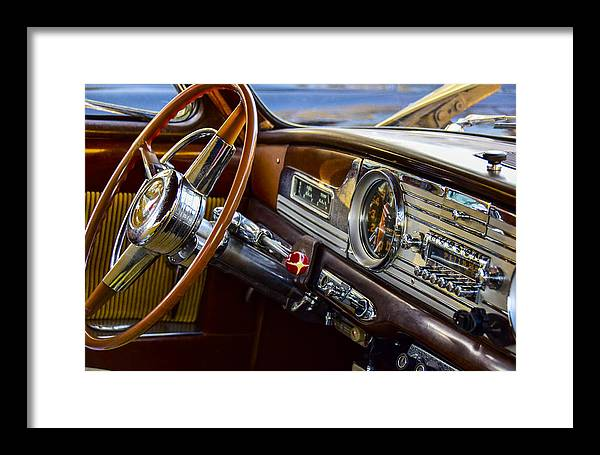 1950 Hudson Dashboard Framed Print featuring the photograph 1950 Hudson by Robert Grant