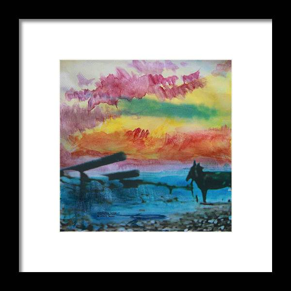 Abstract Framed Print featuring the photograph 1950's - In The Hopi Village by Lenore Senior