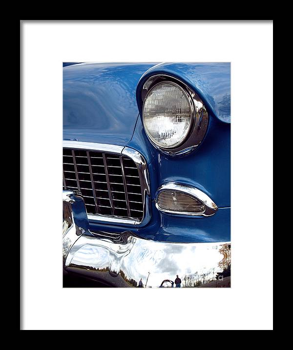 Chevy Framed Print featuring the photograph 1955 Chevy Front End by Anna Lisa Yoder