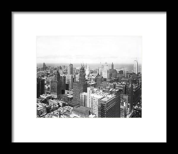 1950's Framed Print featuring the photograph 1955 Downtown Chicago by Underwood Archives