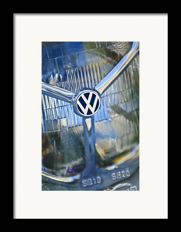 1956 Volkswagen Vw Bug Framed Print featuring the photograph 1956 Volkswagen Vw Bug Head Light by Jill Reger