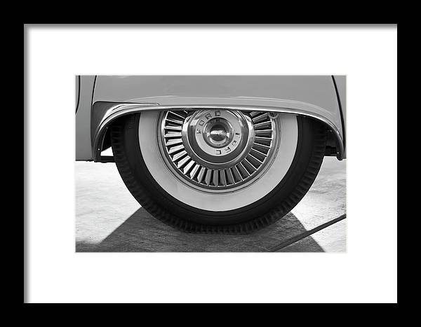 1957 Ford Thunderbird Framed Print featuring the photograph 1957 Ford Thunderbird Wheel 3 by Jill Reger