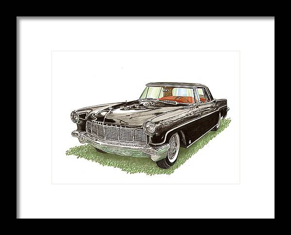 Famed Prints Of Beautiful Lincoln Continental Mark Ii. Framed Prints Of Deep Black Lincoln Continentals. Luxury Lincoln Continental Mk Ii Prints And Note Cards. Canvas Prints Of Luxury Lincoln Continental Mk Ii Automobiles. Framed Print featuring the painting 1957 Lincoln Continental Mk II by Jack Pumphrey