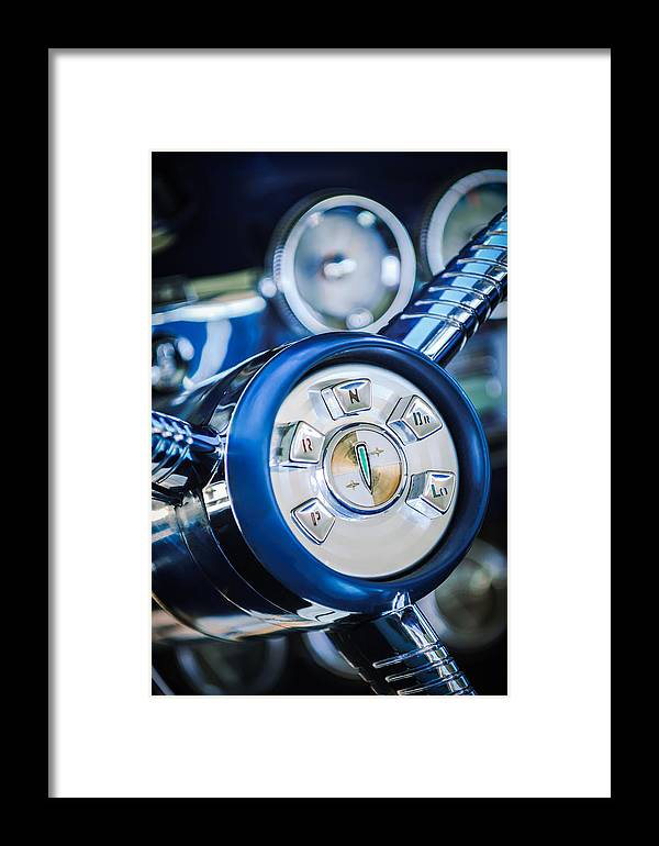 1958 Edsel Ranger Framed Print featuring the photograph 1958 Edsel Ranger Push Button Transmission by Jill Reger