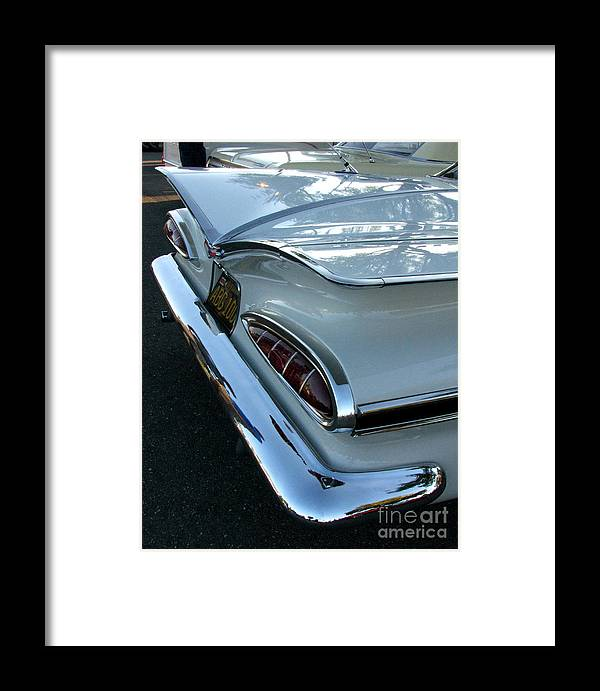 1959 Cheverolet Impala Framed Print featuring the photograph 1959 Chevrolet Impala Tailfin by Peter Piatt