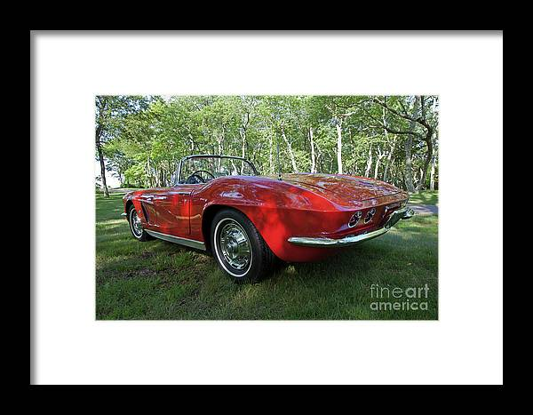 Corvette Framed Print featuring the photograph 1962 Corvette by Butch Lombardi