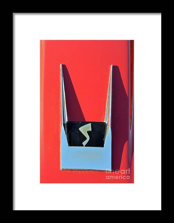 Classic Framed Print featuring the photograph 1962 Studebaker Avanti Badge by George Atsametakis