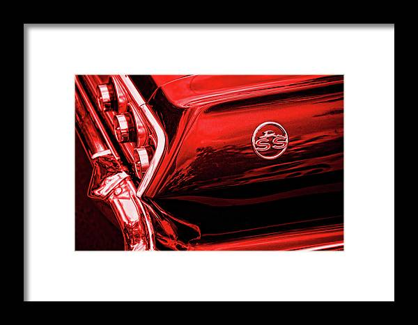 1963 Framed Print featuring the photograph 1963 Chevrolet Impala Ss Red by Gordon Dean II