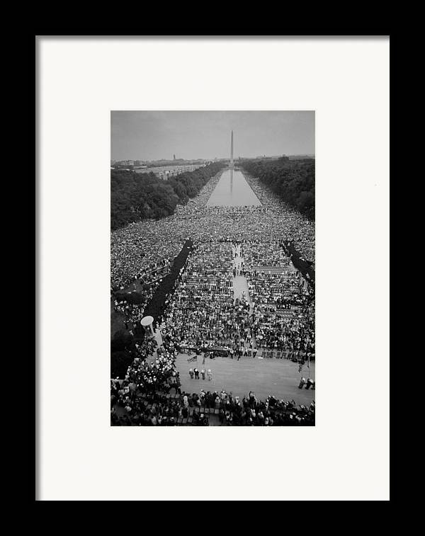 History Framed Print featuring the photograph 1963 March On Washington, At The Height by Everett