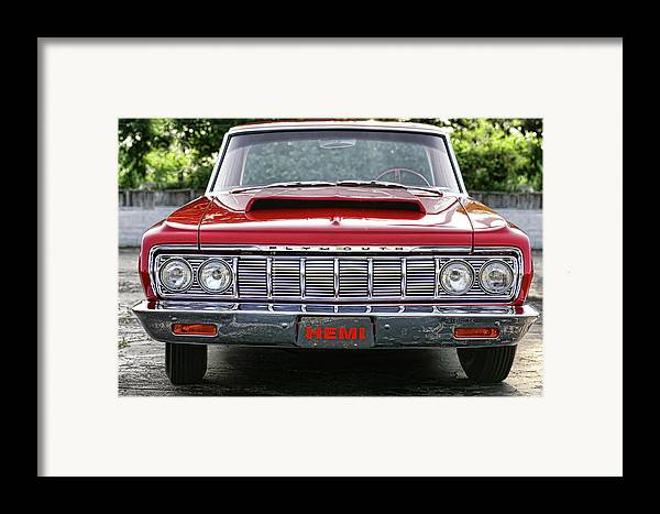 1964 Framed Print featuring the photograph 1964 Plymouth Savoy Hemi by Gordon Dean II