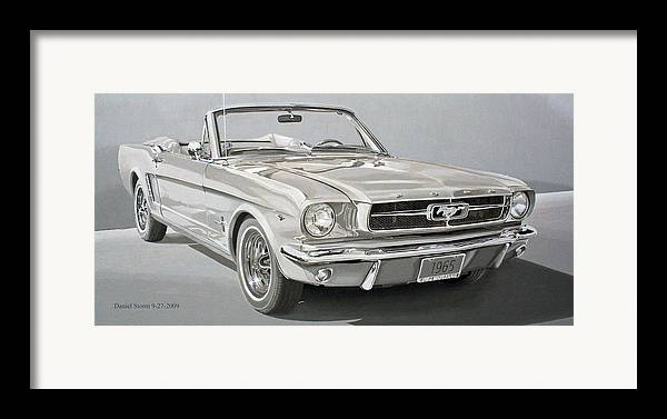 1965 Ford Mustang Framed Print featuring the painting 1965 Ford Mustang by Daniel Storm