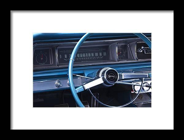 1966 Chevrolet Impala Framed Print featuring the photograph 1966 Chevrolet Impala Dash by Glenn Gordon