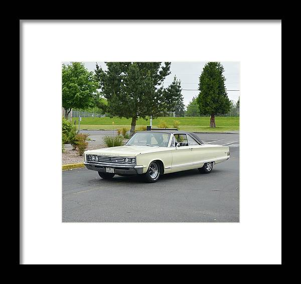 1966 Framed Print featuring the photograph 1966 Chrysler Newport Freiss by Mobile Event Photo Car Show Photography