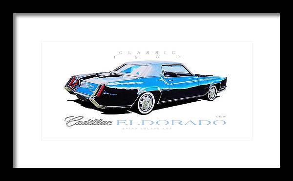 1967 Cadillac Eldorado Framed Print By Brian Roland