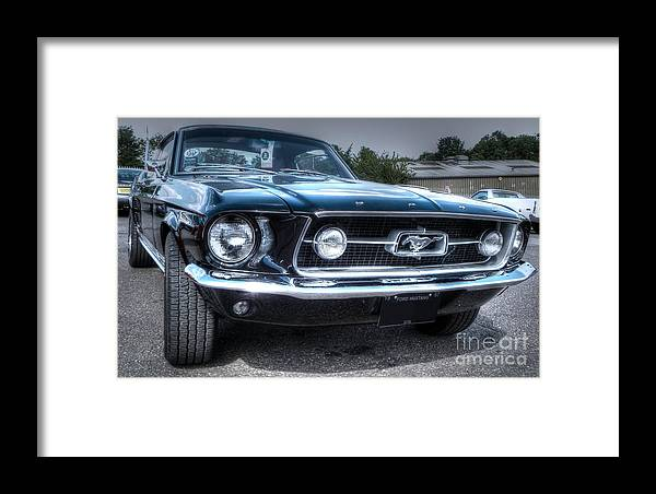 Hdr Framed Print featuring the photograph 1967 Ford Mustang by Vicki Spindler
