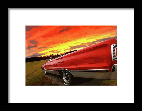 426 Framed Print featuring the photograph 1967 Plymouth Satellite Convertible by Gordon Dean II