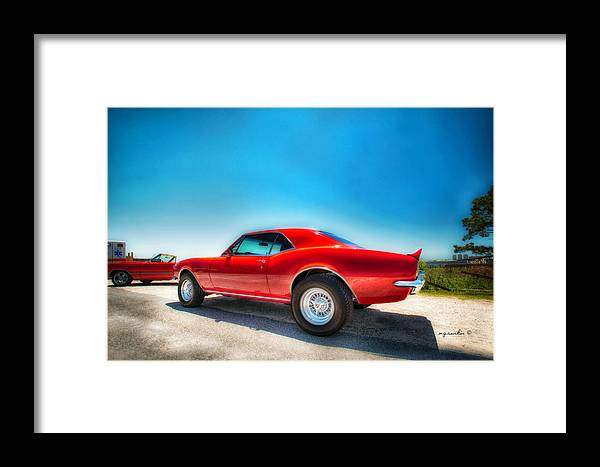 Car Framed Print featuring the photograph 1967 S S Camaro_hdr by Michael Rankin