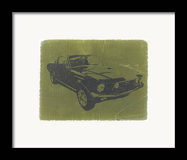 1968 Ford Mustang Framed Print featuring the photograph 1968 Ford Mustang by Naxart Studio