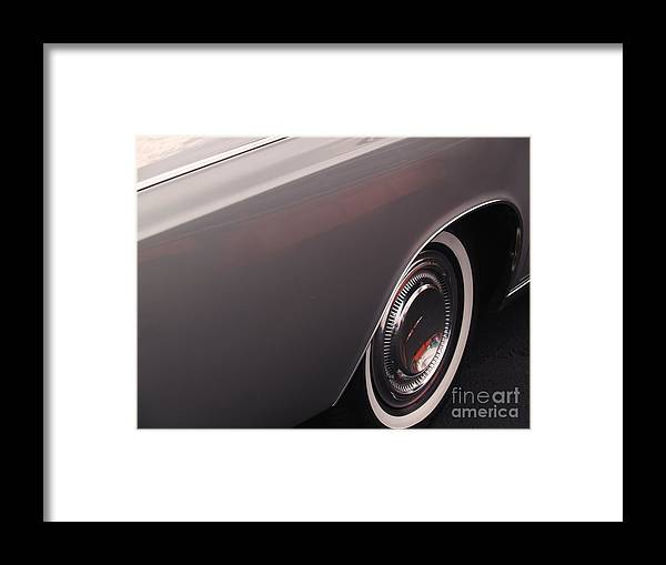 Lincoln Framed Print featuring the photograph 1968 Vintage Lincoln Sedan Fender by Anna Lisa Yoder