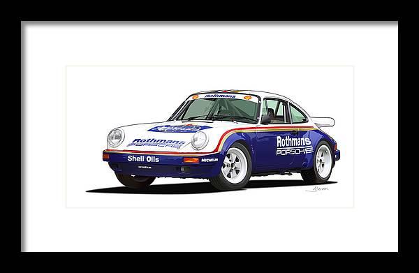 1984 Porsche 911 Sc Rs Illustration Framed Print By Alain Jamar