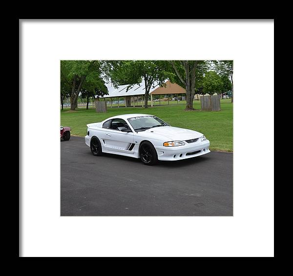 1996 Framed Print featuring the photograph 1996 Saleen S281-106 Herr by Mobile Event Photo Car Show Photography