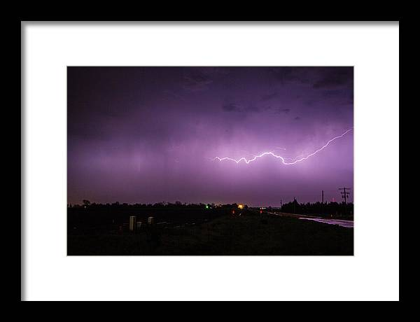 Nebraskasc Framed Print featuring the photograph 1st Severe Night Tboomers Of 2018 012 by NebraskaSC