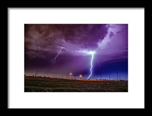Nebraskasc Framed Print featuring the photograph 1st Severe Night Tboomers Of 2018 017 by NebraskaSC