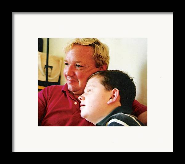 Framed Print featuring the photograph Father And Son by Scarlett Royal