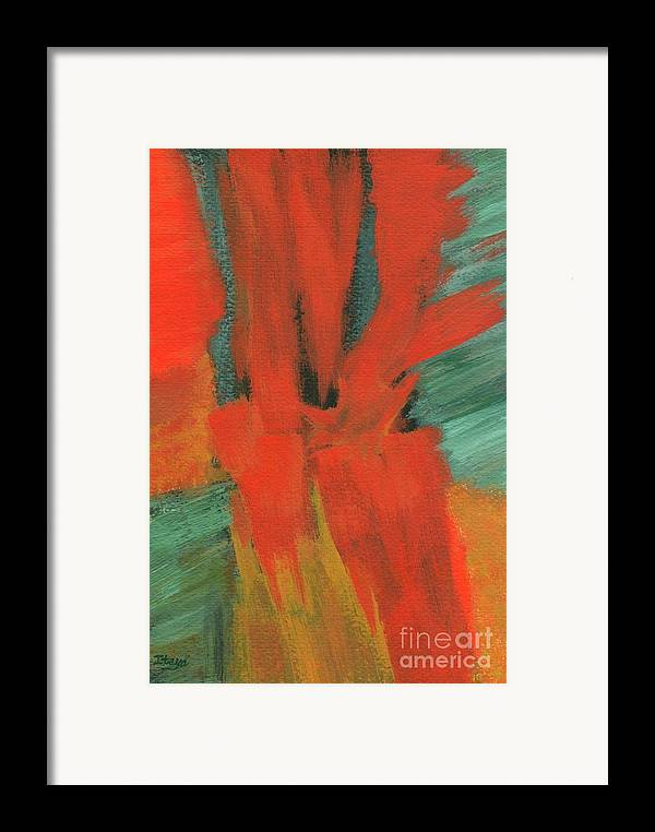 Abstract Framed Print featuring the painting A Moment In Time by Itaya Lightbourne