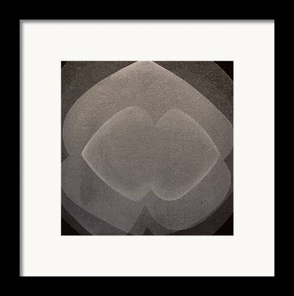 Abstract Framed Print featuring the painting Abstract Flower by Jitka Anlaufova