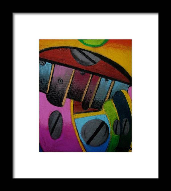Abstract Framed Print featuring the painting Sharpened Intuition by Misty VanPool