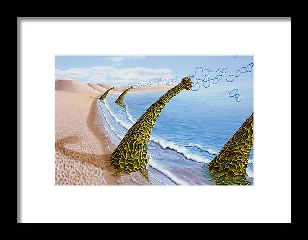Tree Framed Print featuring the painting Agaricia Bullio by Patricia Van Lubeck
