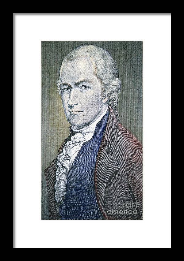 Hamilton Framed Print featuring the painting Alexander Hamilton by American School