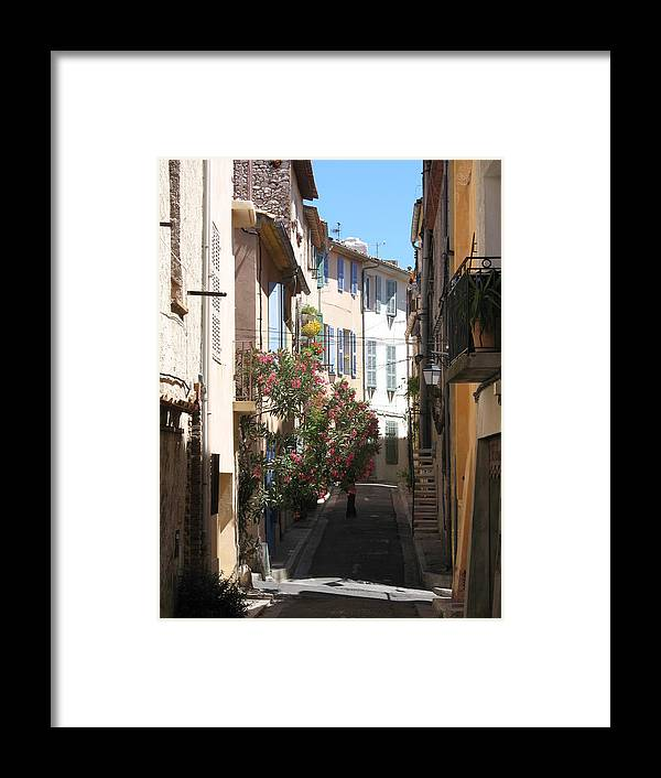 Alley Framed Print featuring the photograph Alley - Provence by Christiane Schulze Art And Photography