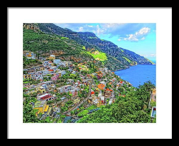 Amalfi Framed Print featuring the photograph Amalfi by Herman Hagen