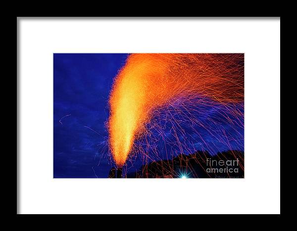Steam Engine Framed Print featuring the photograph Amish Fireworks by David Arment