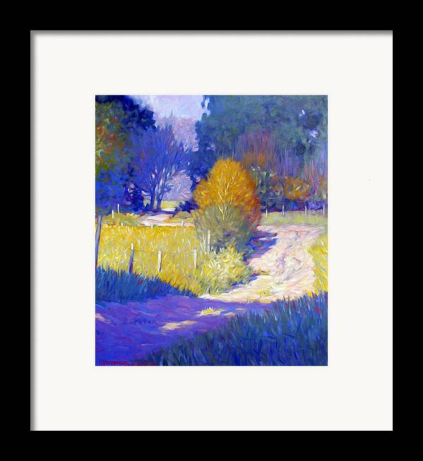 Landscape Framed Print featuring the painting Back Road by Kevin Lawrence Leveque