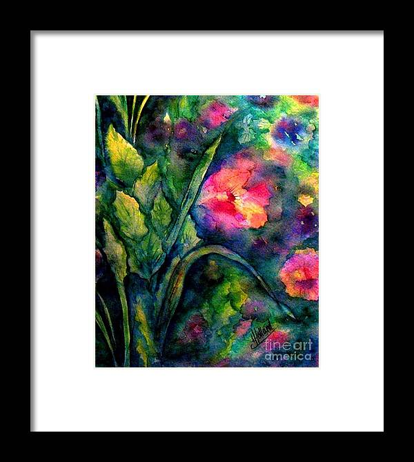 English Garden Framed Print featuring the painting Basking In The Light by Hazel Holland