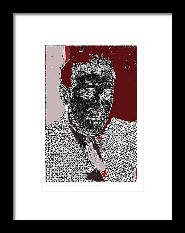 Benjamin Siegel Aka Bugsy Unknown Locale Or Date Framed Print featuring the photograph Benjamin Siegel Aka Bugsy Unknown Locale Or Date-2013 by David Lee Guss