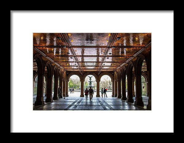 Nyc Framed Print featuring the photograph Bethesda Terrace by Robert J Caputo