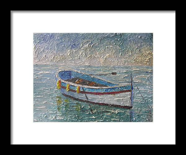Boat Framed Print featuring the painting Boat Of Provence by Frederic Payet