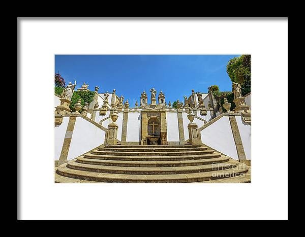 Braga Framed Print featuring the photograph Bom Jesus Staircase Braga by Benny Marty