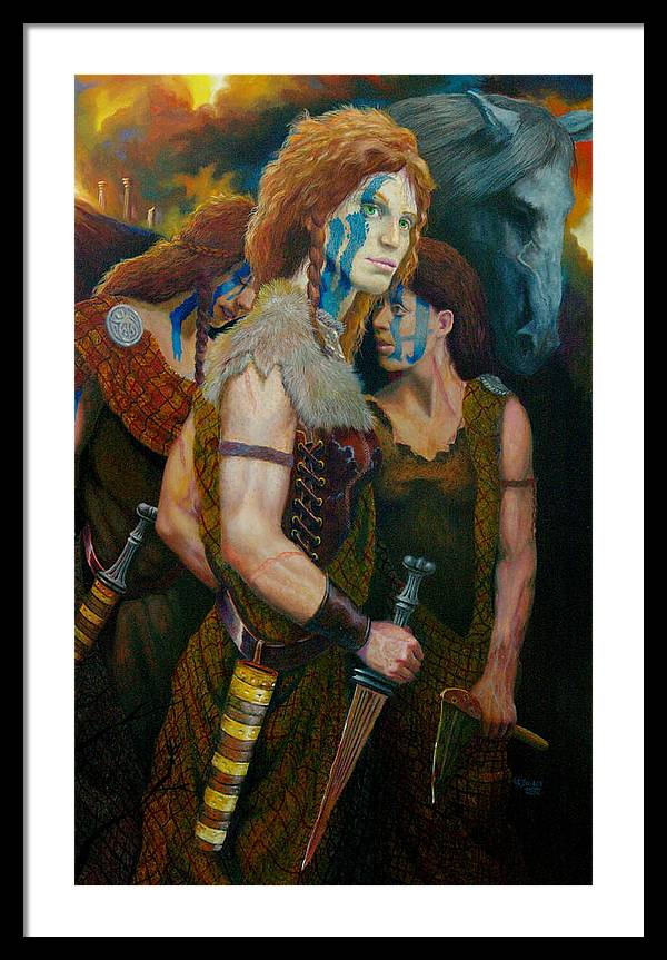 Historic Women Of Briton Framed Print featuring the painting Boudica by RC Bailey