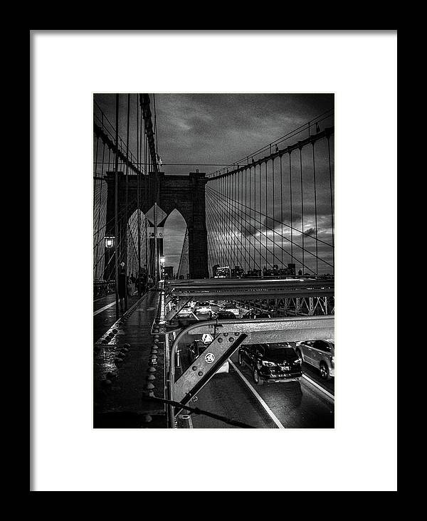 Nyc Framed Print featuring the photograph Brooklyn Bridge by Martin Newman