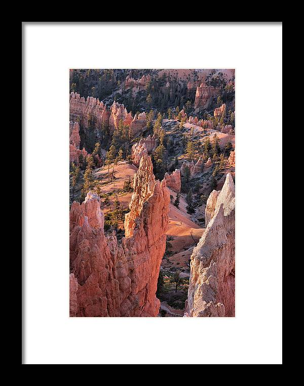 Bryce Canyon Framed Print featuring the photograph Bryce Canyon Sunrise by Stephen Vecchiotti