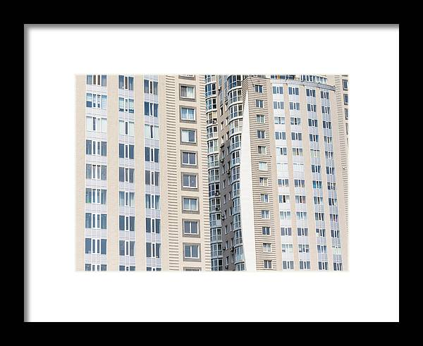 Apartment Framed Print featuring the photograph Building Construction by Alain De Maximy