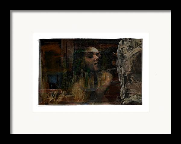 Portrait Framed Print featuring the digital art Bust by Nuff