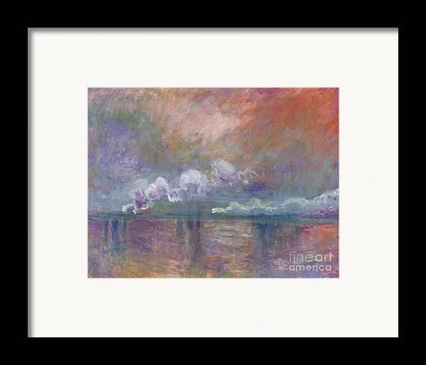 Charing Cross Bridge Framed Print featuring the painting Charing Cross Bridge by Claude Monet