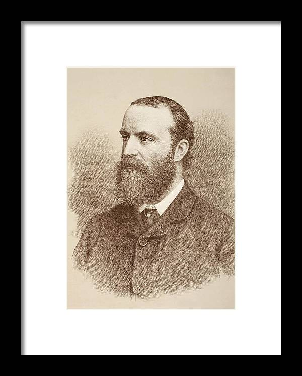 Charles Framed Print featuring the drawing Charles Stewart Parnell, 1846 by Vintage Design Pics